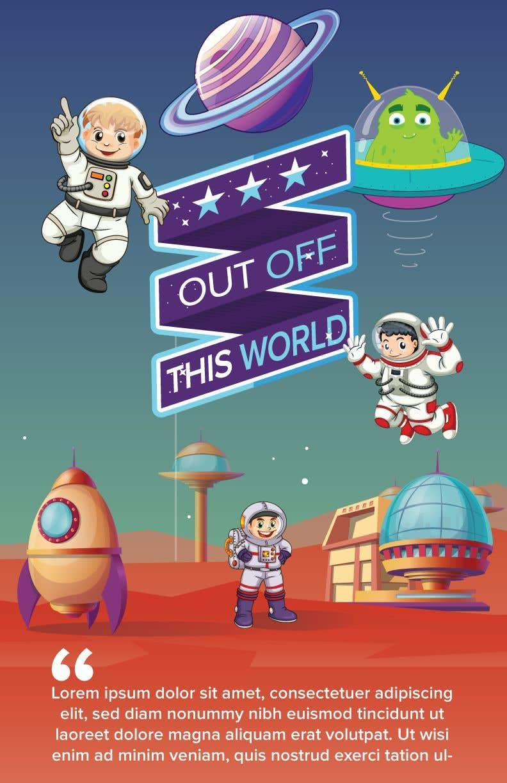 Entry 77 By Pratheksrk For Space Poster Cartoon Design Freelancer