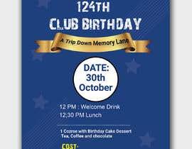 #39 for Design a Club Birthday flyer by piashm3085