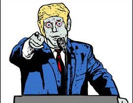 #2 cho Caricature style vector of President Trump looking like a zombie bởi stebo192