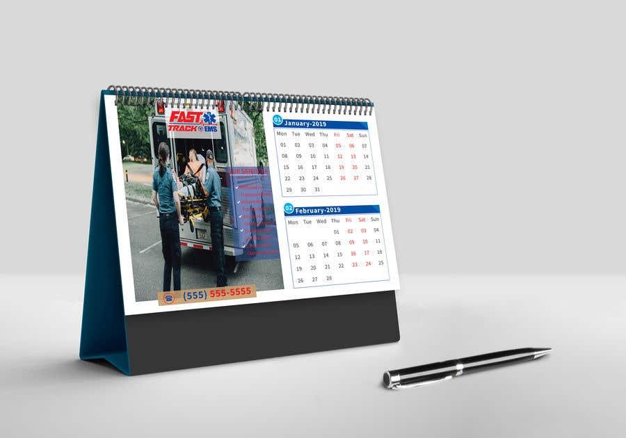Entry 70 By Akheruzzaman2222 For Design Desk Calendar Header