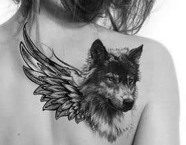 #23 for 1 Wolf & 1 wing Tattoo Design af hossaingpix
