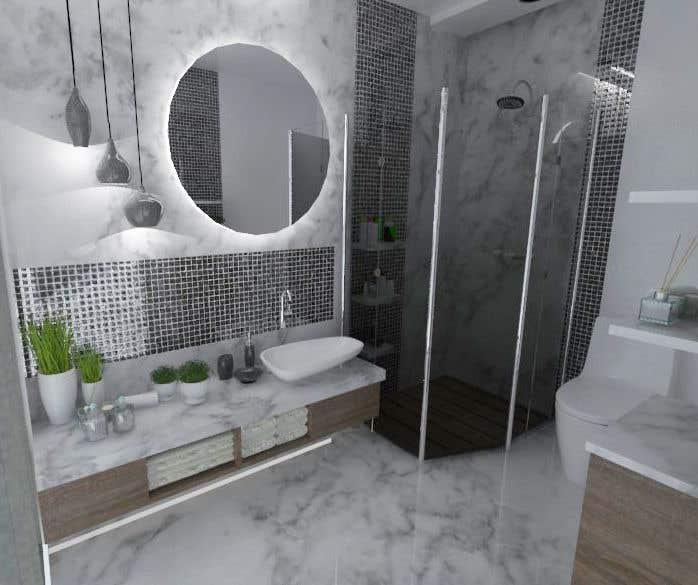 . Entry  4 by nedaaelislam44 for Powder room  small washroom interior