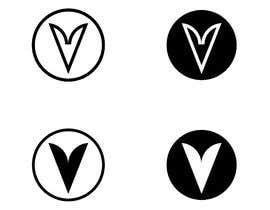 #625 untuk Simple V letter logo monogram/penrose triangle oleh sarifmasum2014
