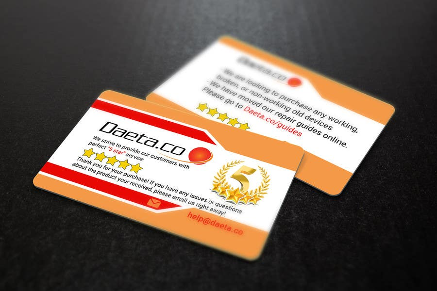 Entry #13 by s04530612 for Design Business Cards for 5-Star Feedback ...