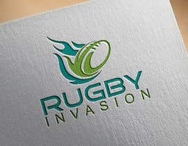 #9 for I need a logo designed for a Rugby news website.  Website name - Rugby Invasion  Logo Ideally consist of RI (higher or lowercase) Rugby Invasion  Ruby ball or the shape Rugby posts  Looking for vibrant colours by issue01