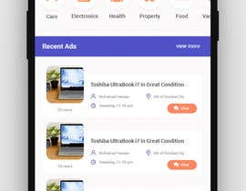 #29 for UI/UX Home page only for classified ads mobile application af GhadaGamalShebl