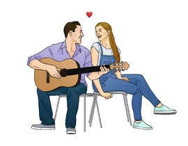#11 for Illustration 2 people in chairs who sing by vijayrai1989
