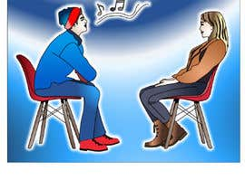 #18 per Illustration 2 people in chairs who sing da letindorko2