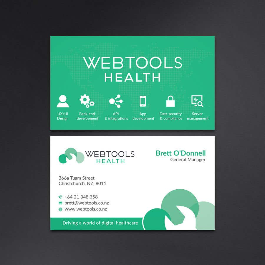 Contest Entry #843 for Business Card Design - Webtools Health
