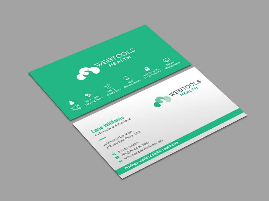 Contest Entry #1179 for Business Card Design - Webtools Health