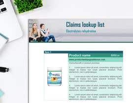 Nro 3 kilpailuun Claims look up list käyttäjältä davidcastillo10