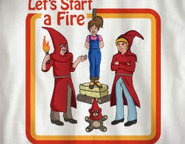 "#28 for graphic design - retro cartoon illustration - ""lets start a fire"" by Takataca"