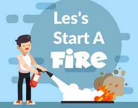 "#27 for graphic design - retro cartoon illustration - ""lets start a fire"" by blphotoeditor"