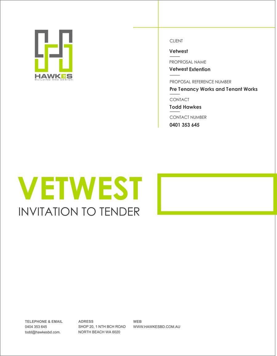 Kilpailutyö #9 kilpailussa Tender Proposal / Brochure