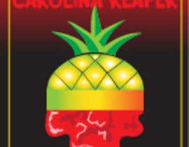 #32 for Bottle Label for a Pineapple Mango & Carolina Reaper Hot Sauce by gdougniday