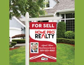 #94 for DESIGN A FOR SALE SIGN FOR A REAL ESTATE COMPANY by AR1069