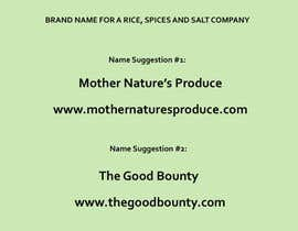 #310 for Brand Name Required For Rice, Spices & Salt Related Business: by maisomera