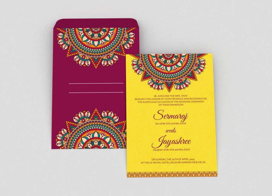 Entry 10 By Dissha For Hindu Wedding Invitation Card Design