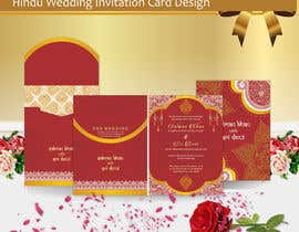 #12 per Hindu Wedding Invitation Card Design da aangramli