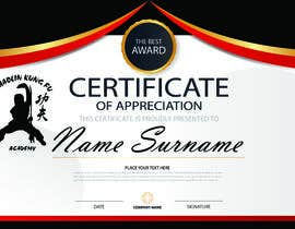 #7 untuk Shaolin Kung Fu Certificate oleh NazMalik004