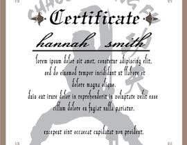 #11 untuk Shaolin Kung Fu Certificate oleh atiqurrahmanm25