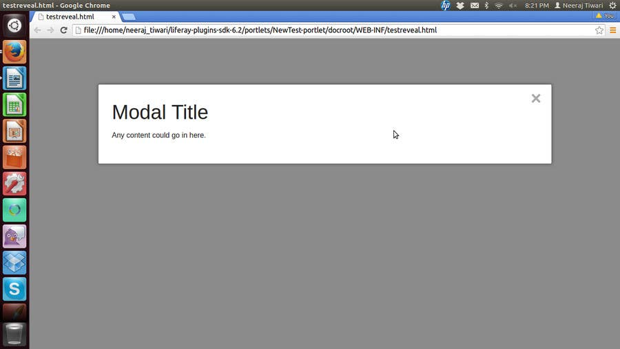 Entry #9 by neert for Make Reveal modal opening on load page