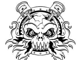 #15 for Illustrate a Skull with Pistons by rafaelcarrasco