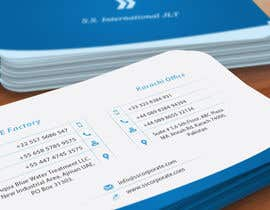 nº 26 pour Business Card Design for S.S. International par deniedart