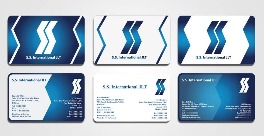 Contest Entry #25 for Business Card Design for S.S. International