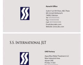 nº 57 pour Business Card Design for S.S. International par tanars