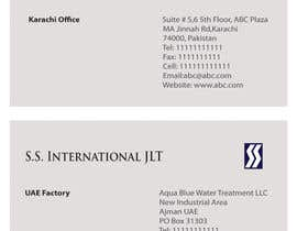 nº 58 pour Business Card Design for S.S. International par tanars