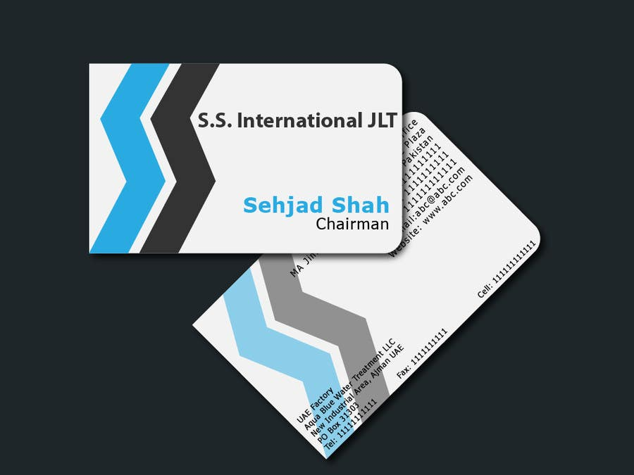 Contest Entry #59 for Business Card Design for S.S. International
