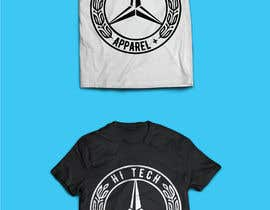 "#9 para Need word Mercedes Benz took out with my logo design ""hi-tech "" on top..the bottom part ""apparel + "" with a extra touch of  your own fashion  design to give the logo a different look por CreativeRajon"