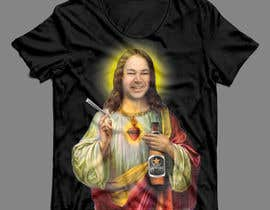#43 untuk T-Shirt with Jesus drawing + face merge and text oleh sauravarts