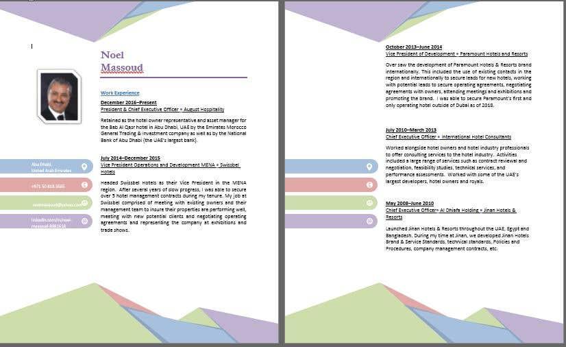 Entry #18 by reliantForGood for CV Re-Designs   Freelancer