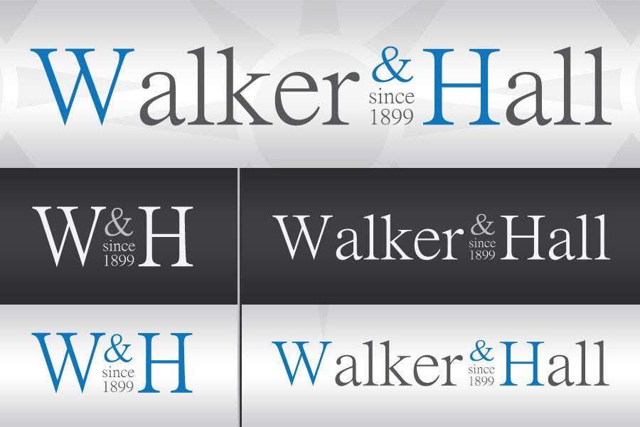 Penyertaan Peraduan #108 untuk Logo Design for Walker and Hall