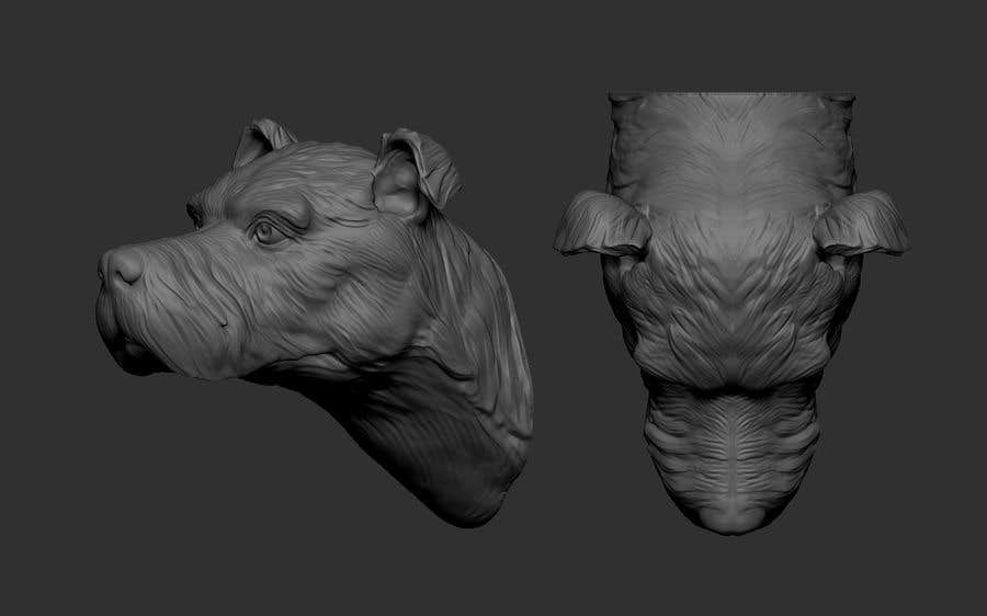 Entry #2 by Bluepix for Create a 3D sculpture of a dog for 3D