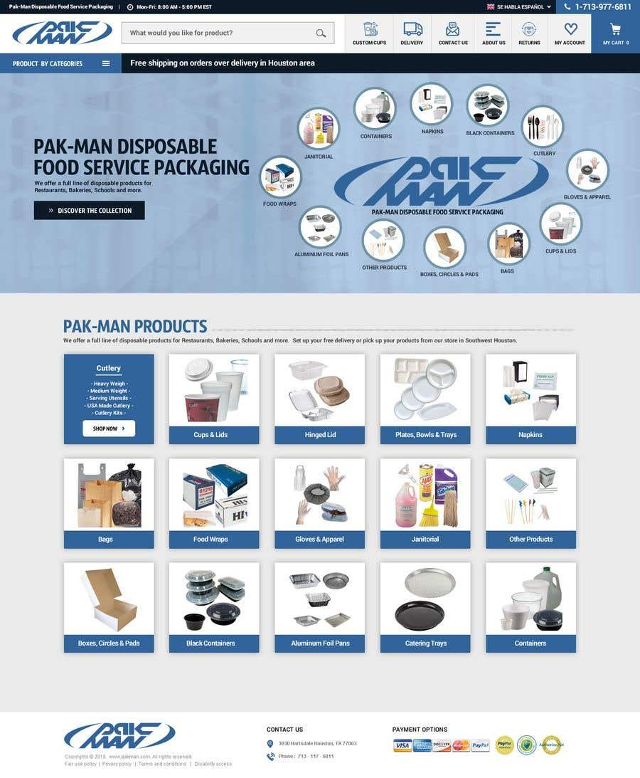 Konkurrenceindlæg #113 for Redesign Homepage of Storefront