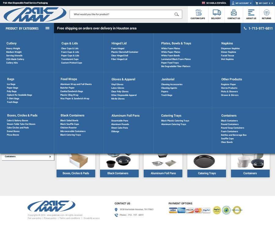 Konkurrenceindlæg #122 for Redesign Homepage of Storefront