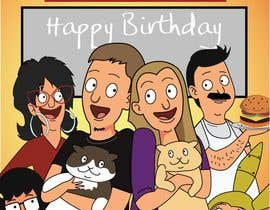 #7 for Draw me, my wife, and our cats in a custom Bob's Burgers portrait af kaushalyasenavi