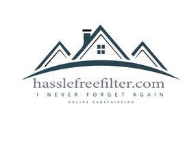 "#5 for I need a logo for hasslefreefilters.com. I want it highlighted with a modern outline of a house. A slogan that says ""never forget again"" underneath. Also writing that says ""online subscription"" by mobeenakhter68"