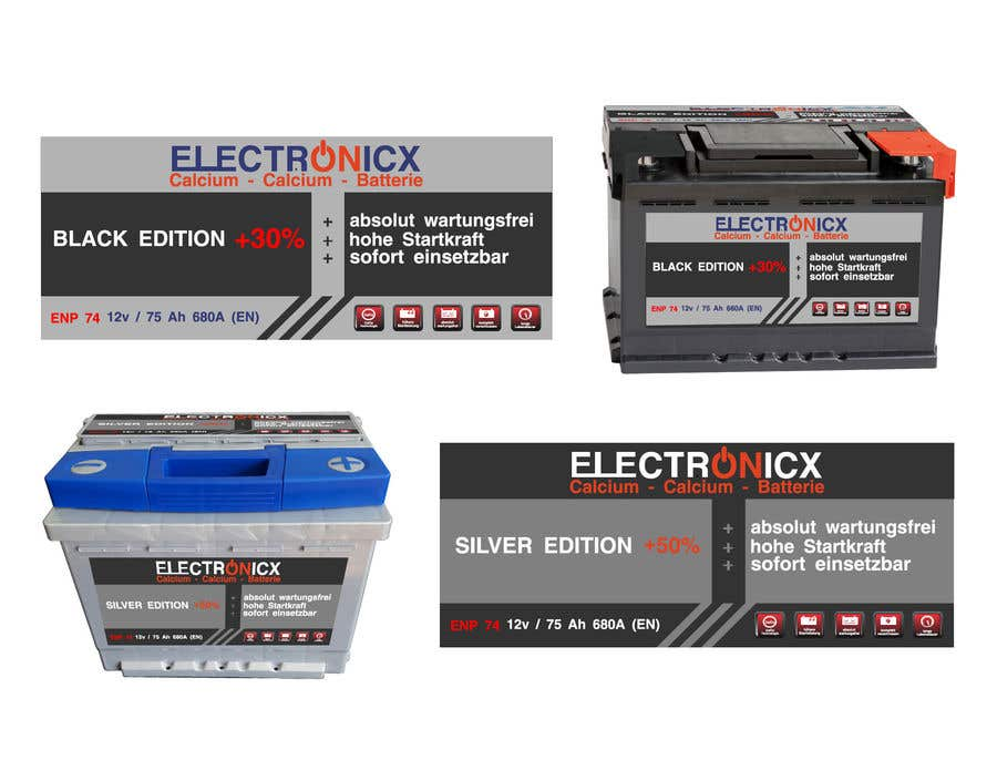 Penyertaan Peraduan #199 untuk Car Battery Design