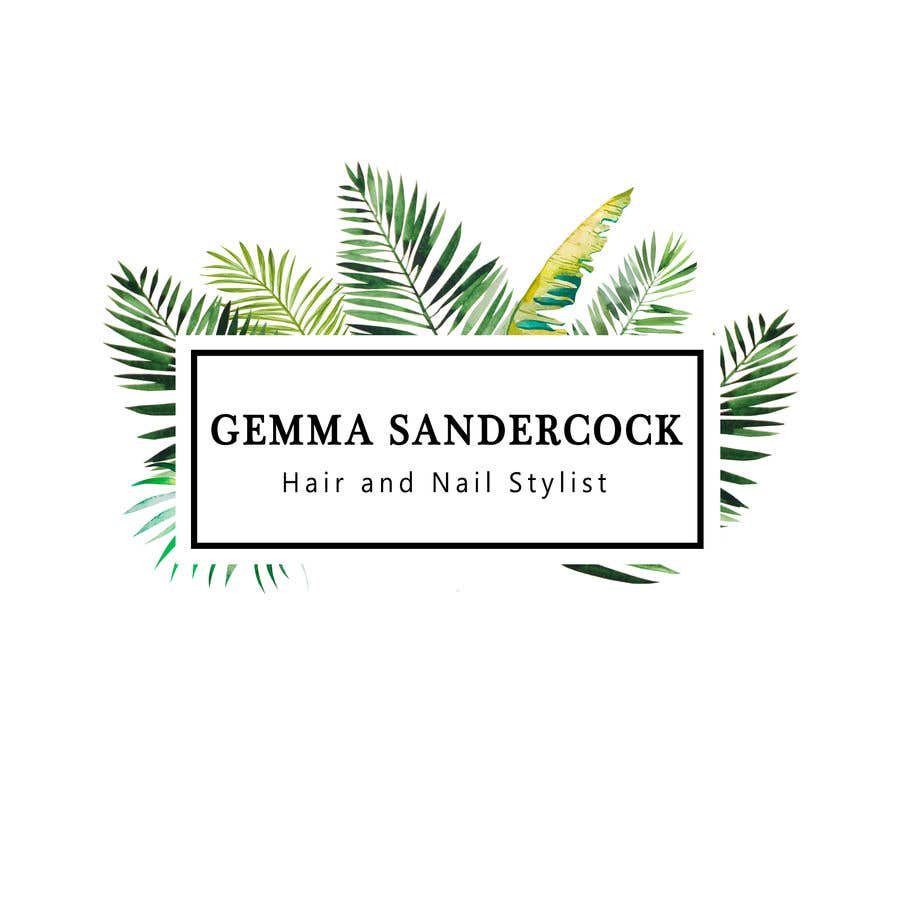 Kilpailutyö #17 kilpailussa My business name is Gemma Sandercock - Hair and Nail Stylist, my instagram @gs_hairandnailstylist. Its an eco, vegan, organic home salon. I was thinking similar to attached pics but open minded to other ideas. Needs to look good as a shop sign too.