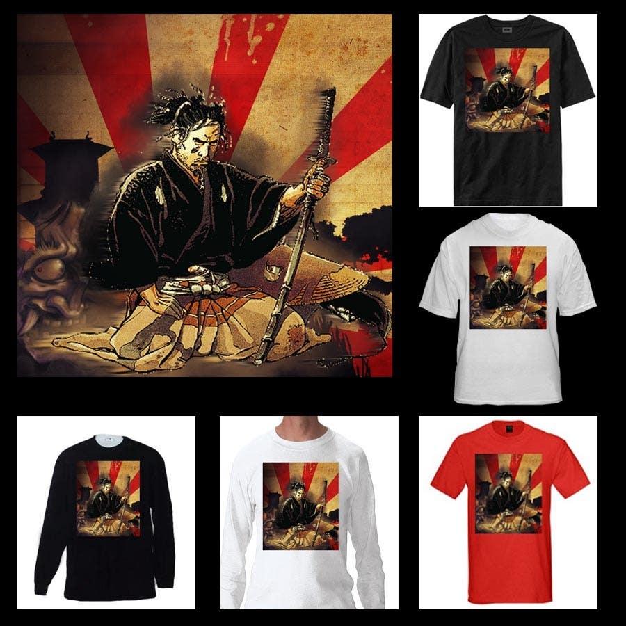 Inscrição nº                                         9                                      do Concurso para                                         Samurai T-shirt Design for Cripplejitsu
