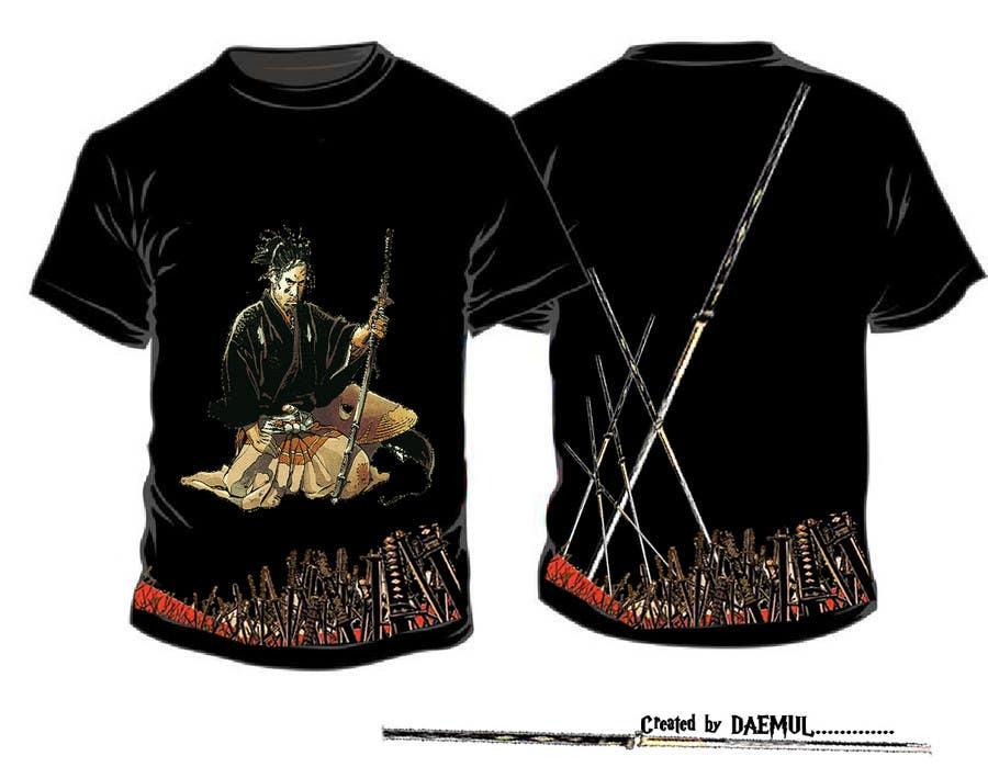 Contest Entry #                                        72                                      for                                         Samurai T-shirt Design for Cripplejitsu