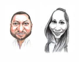 #7 for Draw caricatures of 8 heads, to put on a company Christmas card af djamolidin