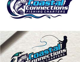 #92 para Coastal Connections Fishing Charters - New Custom Logo Contest por fourtunedesign