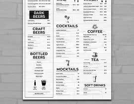 #5 for Build me a bar beverage menu af svetapro