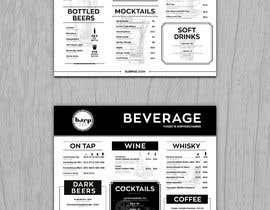 #10 for Build me a bar beverage menu af svetapro