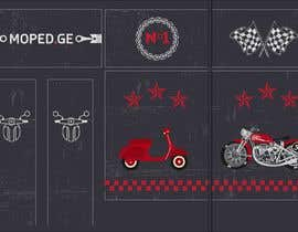 #37 untuk Moped.Ge Moped and Motorcycle shop front sticker design oleh gabba13